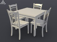 3d chair tamman dining