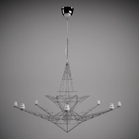 maya tom dixon lightweight chandelier