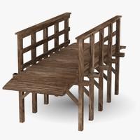 3ds max wooden bridge