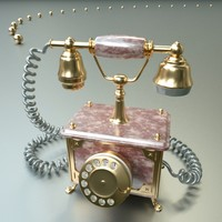 old phone 3d lwo