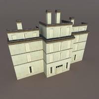 3d building exterior model