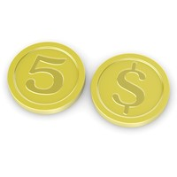 cartoon coin 3d 3ds