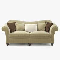 Baker HIGH BACK ROLLED ARM SOFA 821-86
