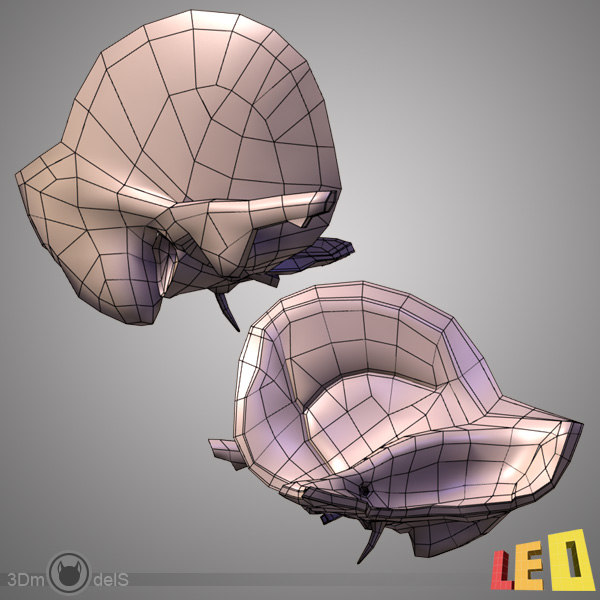 ear anatomy female head 3d max - Ear Anatomy with Head... by leo3Dmodels