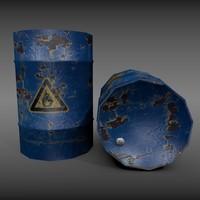 metal barrels 3d 3ds