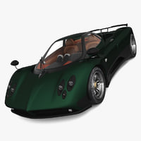 3d model of realistic pagani zonda c12