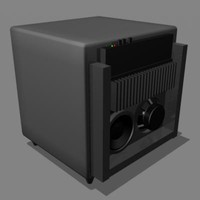 3d sub woofer model