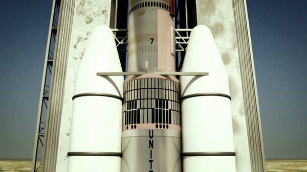 nasa rocket titan 3e 3d 3ds - Rocket & Launchpad Titan 3E Centaur... by signSTUDIOS