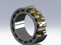 3ds max double row cylinder bearing