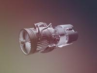 jet engine c4d