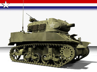 tank 75mm howitzer 3d model