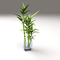 3d model bamboo glass vase