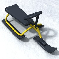 3d model of snow sledge