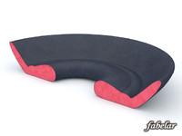3d model alcantara sofa