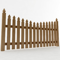 3dsmax gothic spaced picket fence
