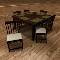 dining room table 3d model