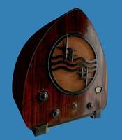 1950 s vintage radio 3d model
