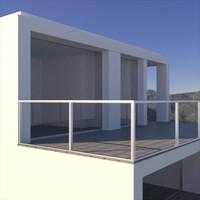 10 houses 3d model