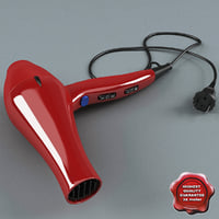 Professional Hairdryer Red