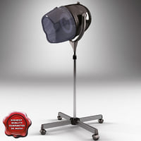 salon stand hair dryer 3ds