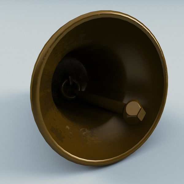 maya small brass bell - Small Brass Bell... by 3d_molier