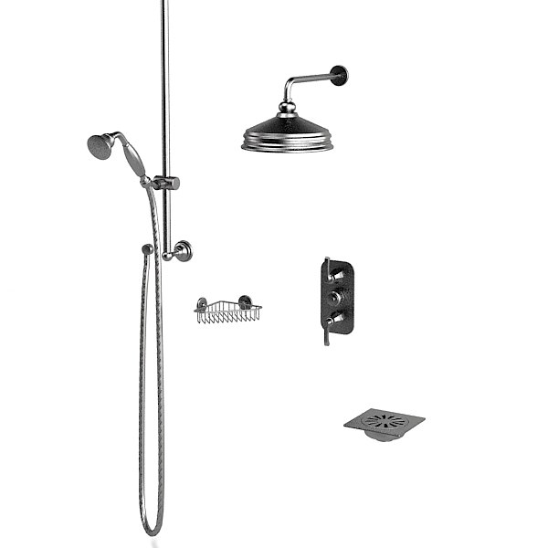 Thg Jcd Jado classic bathroom traditional hand shower head termostat corner soap holder set.jpg