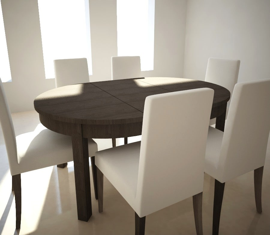 3d extensible table chairs ikea model