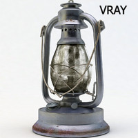 3d model old lantern light