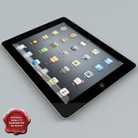 apple ipad2 3d max