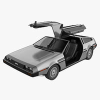delorean dmc 12 3d obj