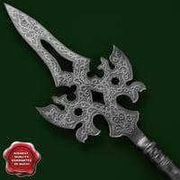 3ds max medieval spear v3