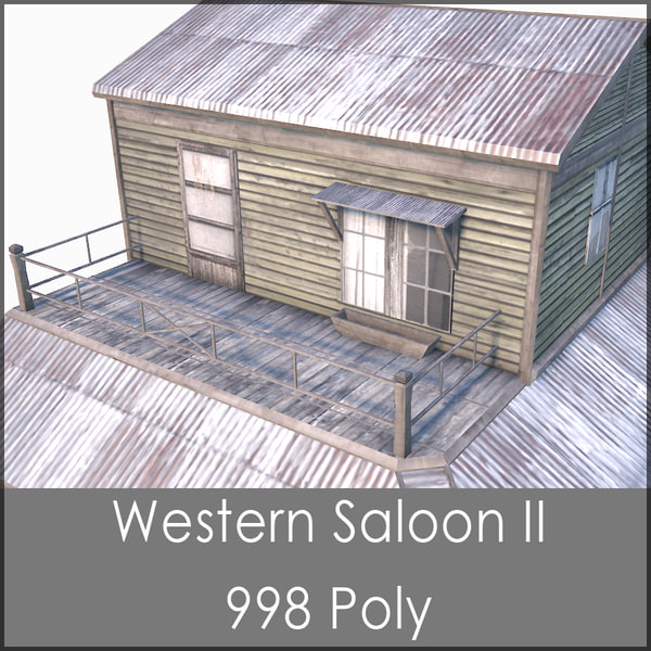 western saloon ii 3d max - Western Saloon II, Low Poly, Textured... by Raahl