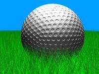 golf ball g 3d c4d