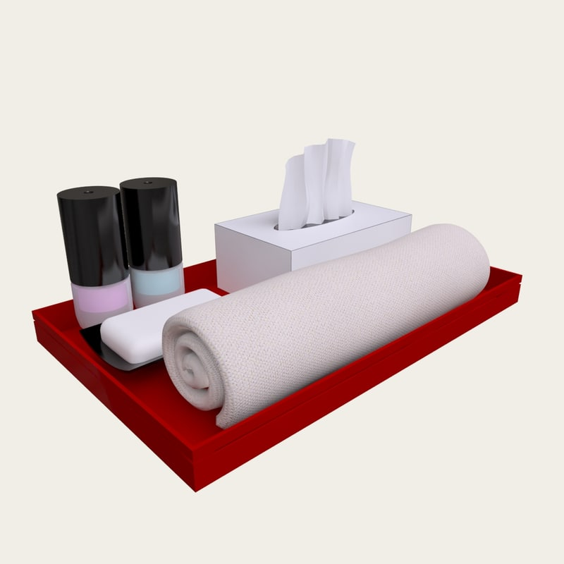 3d model hotel toiletries for Bathroom tray for toiletries
