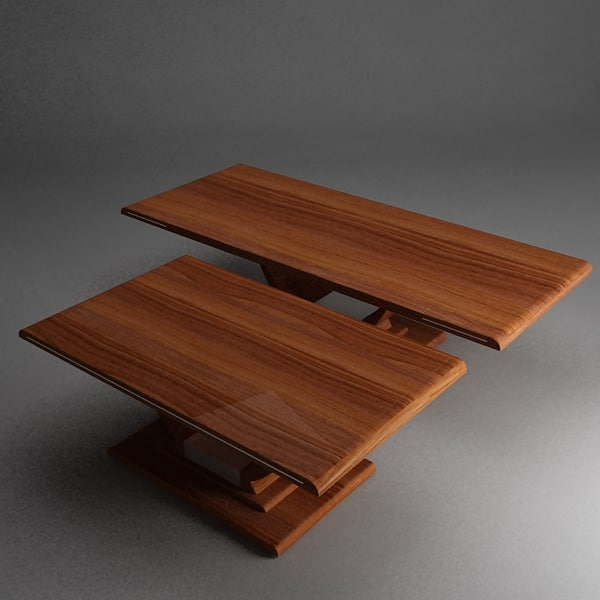 Free design wooden table 3d model for Table 52 2014
