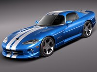 3d model dodge viper sport car