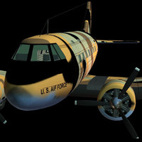 3d c47 military transport model