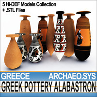 photoreal ancient greek pottery 3d model