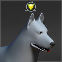 3d german shepherd