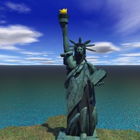 Comic statue of Liberty