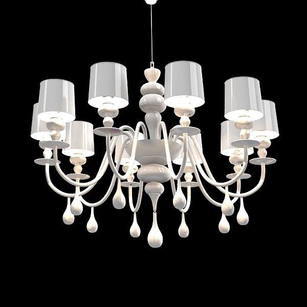Masiero 389 eva s10 wite chandelier ceiling lamp art deco modern contemporay