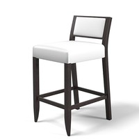 Meridiani kerr nove 60 bar counter stool modern contemporary