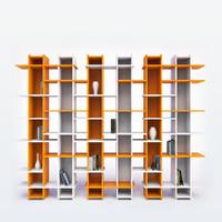 modern bookshelf books 3d 3ds