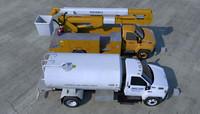 gmc topkick truck 3d model