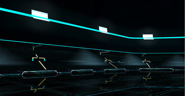 lightcycle arena tron legacy 3d model - Tron legacy lightcycle arena... by jmw121
