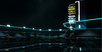 lightcycle arena tron legacy 3d model