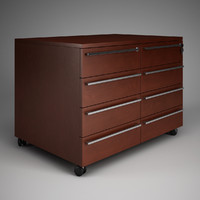 CGAxis Office Drawer Cabinet 03