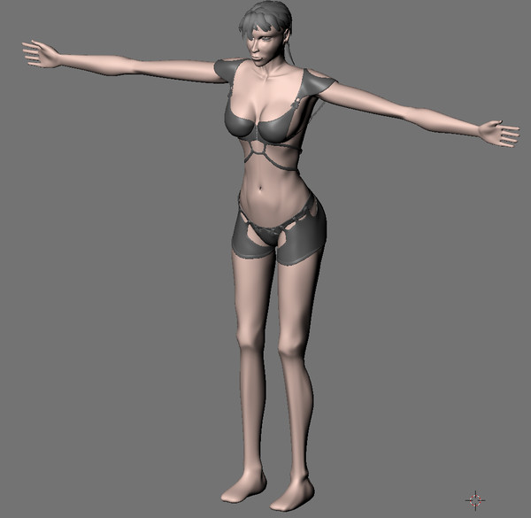 3ds realistic female - Realistic Female Model Hero... by ThinkingOnPause