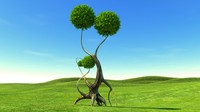 tree gothic 3d model