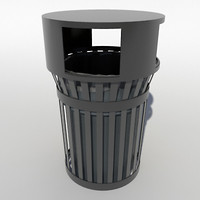 3d city trash model
